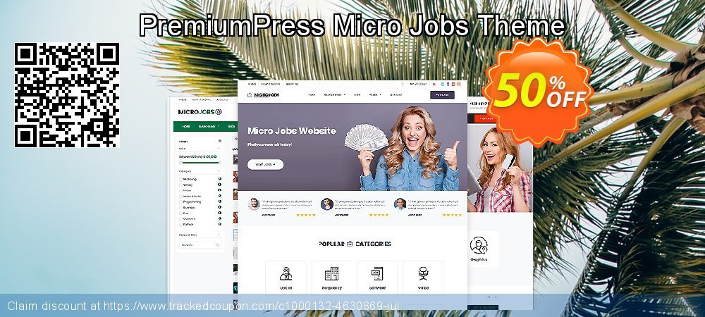PremiumPress Micro Jobs Theme coupon on New Year's Day super sale