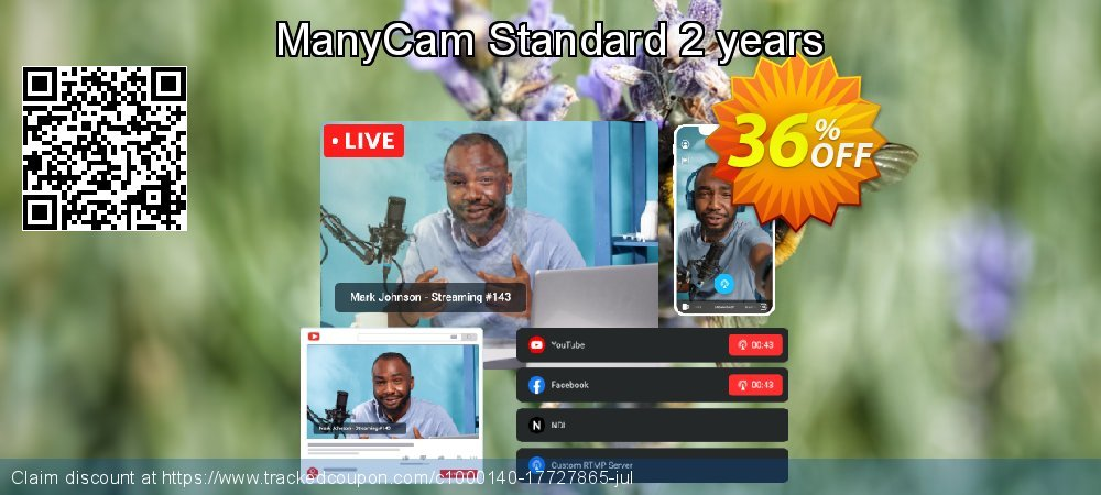 ManyCam Standard Lifetime coupon on Cheese Pizza Day offer