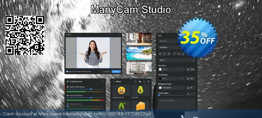 ManyCam Studio coupon on Emoji Day offering sales