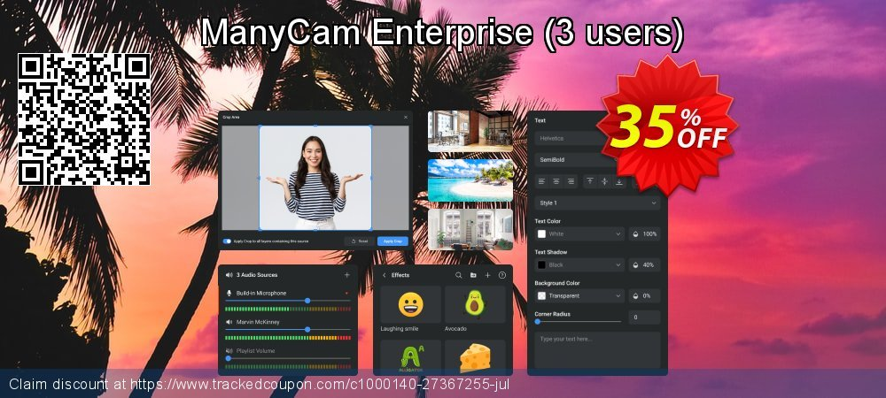 ManyCam Enterprise - 3 users  coupon on Wildlife month offering sales