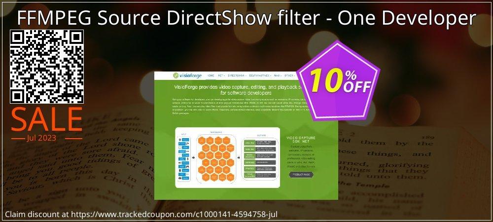 Get 10% OFF FFMPEG Source DirectShow filter - One Developer offering sales