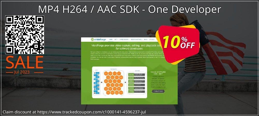 Get 10% OFF MP4 H264 / AAC SDK - One Developer offering sales