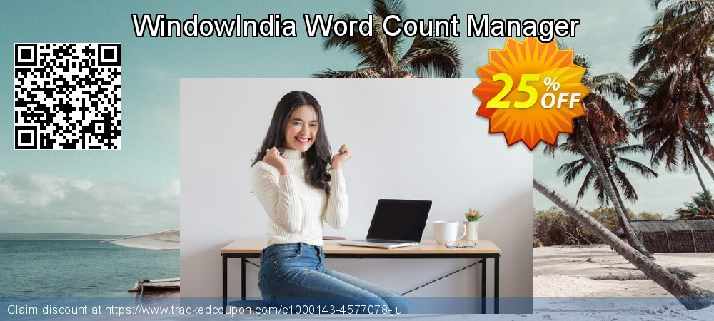 Get 25% OFF WindowIndia Word Count Manager offering sales