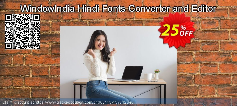 Get 25% OFF WindowIndia Hindi Fonts Converter and Editor offer