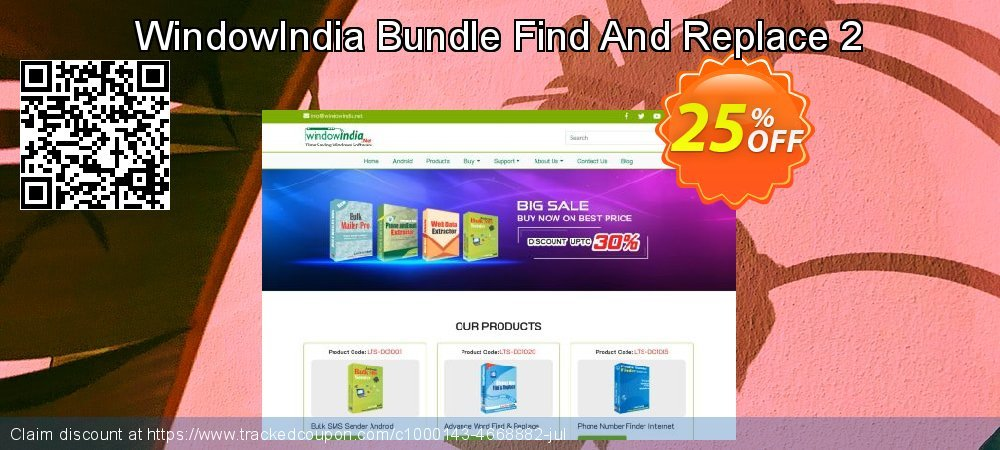 WindowIndia Bundle Find And Replace 2 coupon on Thanksgiving super sale