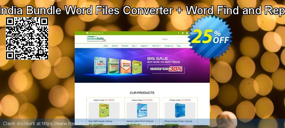 WindowIndia Bundle Word Files Converter + Word Find and Replace Pro coupon on Exclusive Student deals offering discount