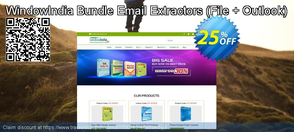 WindowIndia Bundle Email Extractors - File + Outlook  coupon on University Student offer promotions