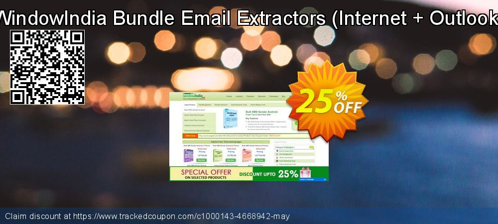 WindowIndia Bundle Email Extractors - Internet + Outlook  coupon on  Lover's Day discounts
