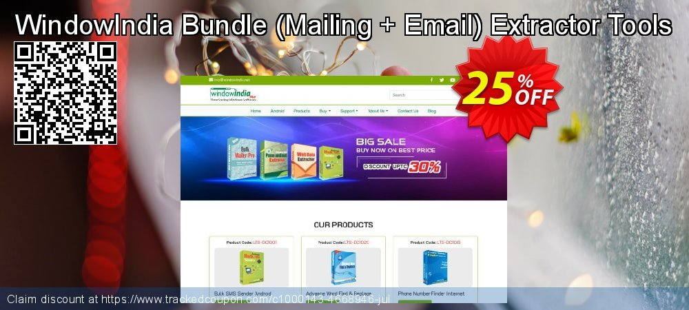 WindowIndia Bundle - Mailing + Email Extractor Tools coupon on Back-to-School event offering sales