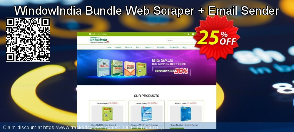 WindowIndia Bundle Web Scraper + Email Sender coupon on Teacher deals super sale