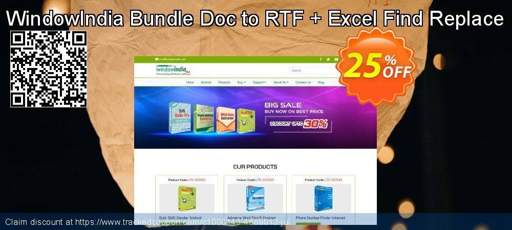WindowIndia Bundle Doc to RTF + Excel Find Replace coupon on Back to School promotion promotions