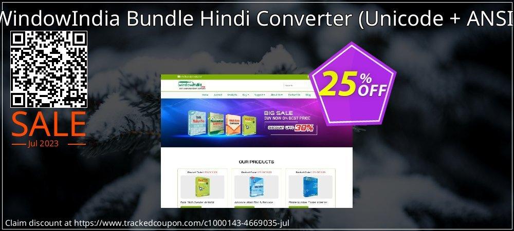 WindowIndia Bundle Hindi Converter - Unicode + ANSI  coupon on Back to School offer offering discount