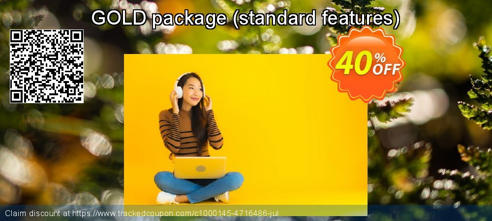 GOLD package - standard features  coupon on Happy New Year deals