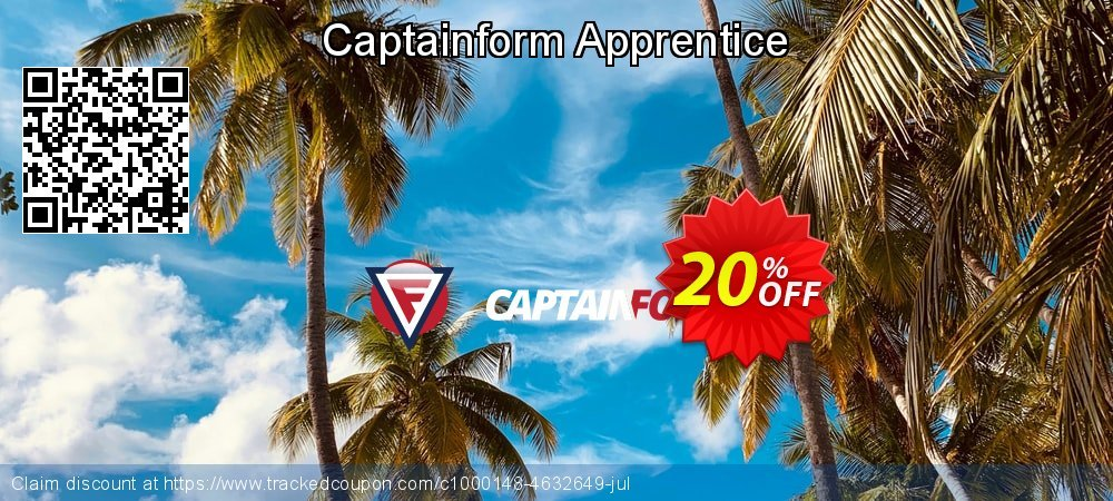 Captainform Apprentice coupon on Int. Workers' Day super sale
