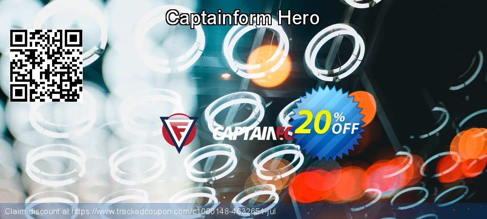 Get 20% OFF Captainform Hero offering sales