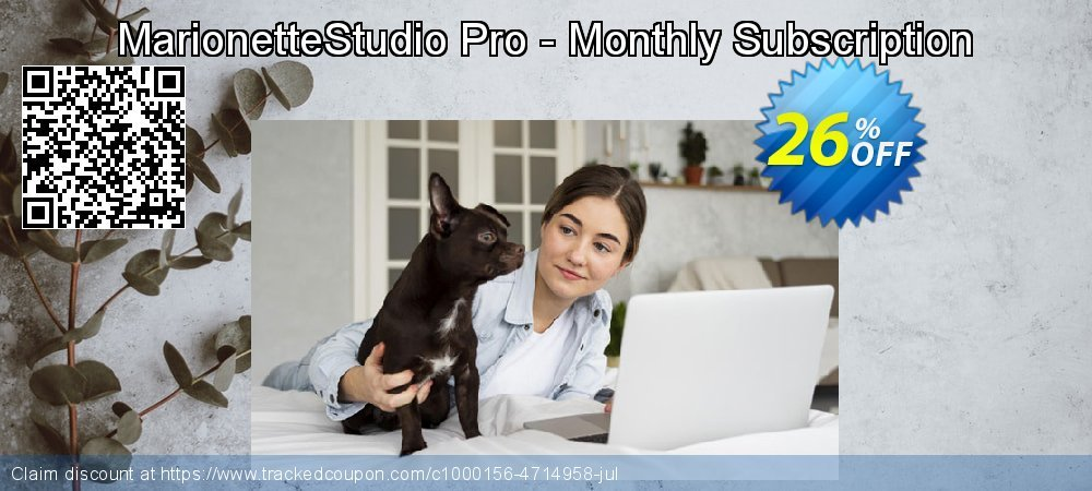 MarionetteStudio Pro - Monthly Subscription coupon on Valentine's Day discount