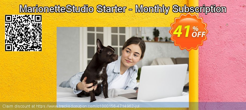 MarionetteStudio Starter - Monthly Subscription coupon on Valentine's Day discount