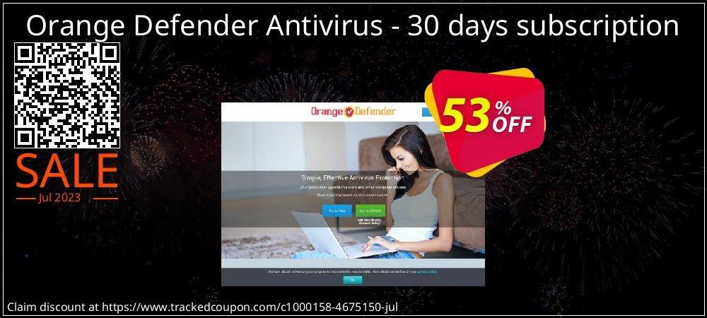 Orange Defender Antivirus - 30 days subscription coupon on Mom Day deals