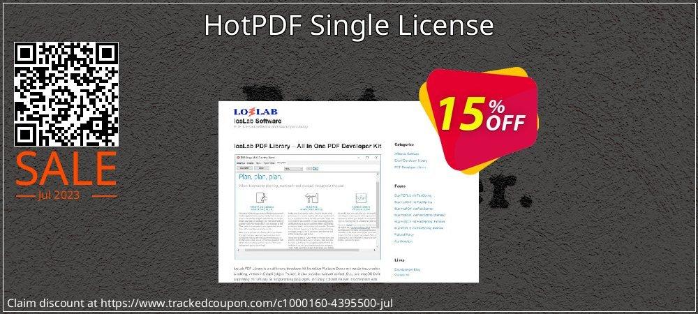 Get 15% OFF HotPDF Single License offering sales