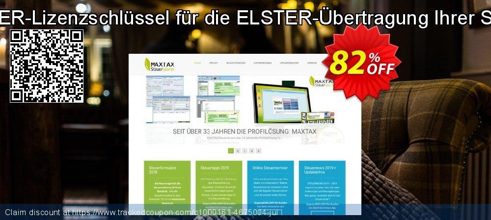 Get 100% OFF MAXTAX ELSTER-Lizenzschlüssel für die ELSTER-Übertragung Ihrer Steuererklärung. discounts