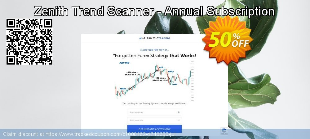 Get 50% OFF Zenith Trend Scanner - Annual Subscription offer