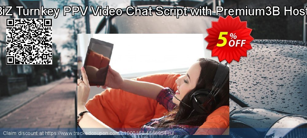 Get 5% OFF VideoGirls BiZ Turnkey PPV Video Chat Script with Premium3B Hosting Monthly offering sales