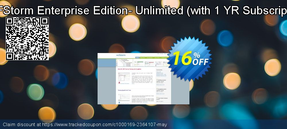 Get 16% OFF WCFStorm Enterprise - Unlimited deals