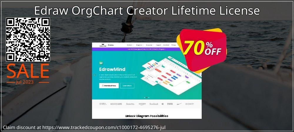 Edraw OrgChart Creator Lifetime License coupon on Back to School season discount