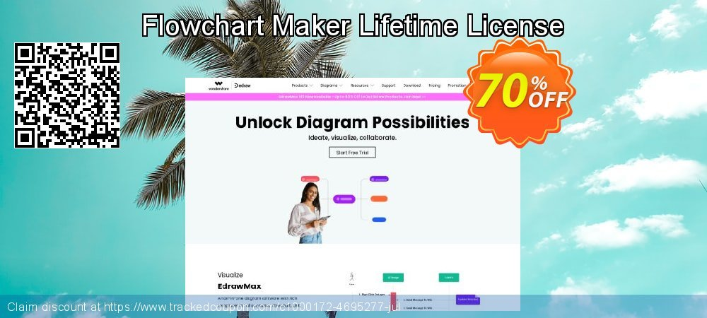 Flowchart Maker Lifetime License coupon on Exclusive Student deals offering discount