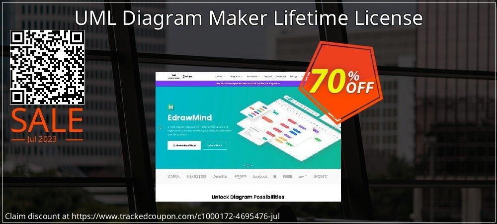 UML Diagram Maker Lifetime License coupon on Back to School deals offering sales