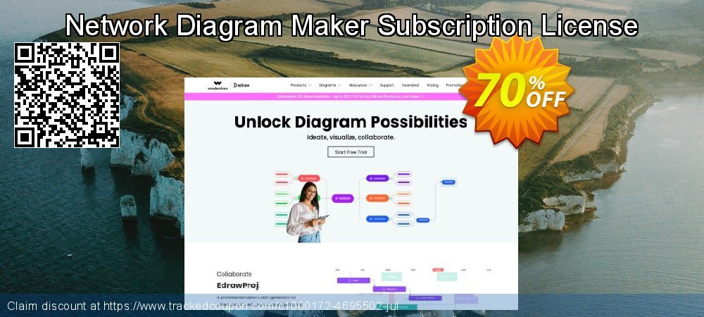 Network Diagram Maker Subscription License coupon on University Student offer offering discount