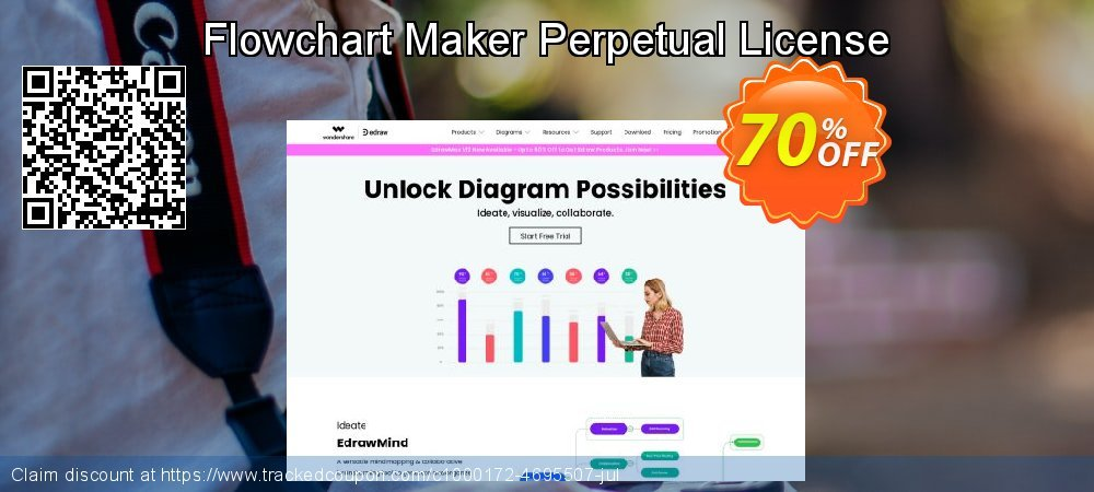 Flowchart Maker Perpetual License coupon on Back to School promo sales