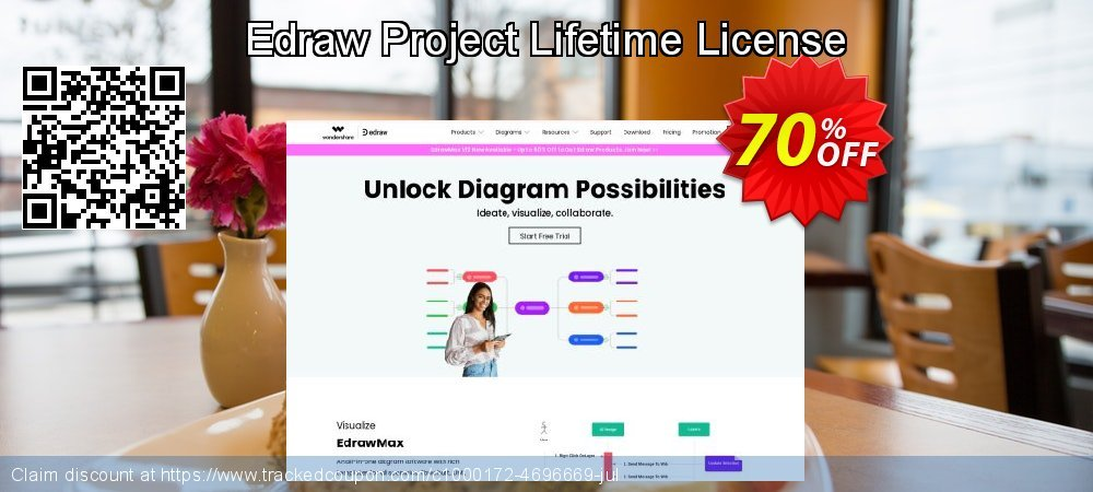 Edraw Project Lifetime License coupon on Back to School coupons deals