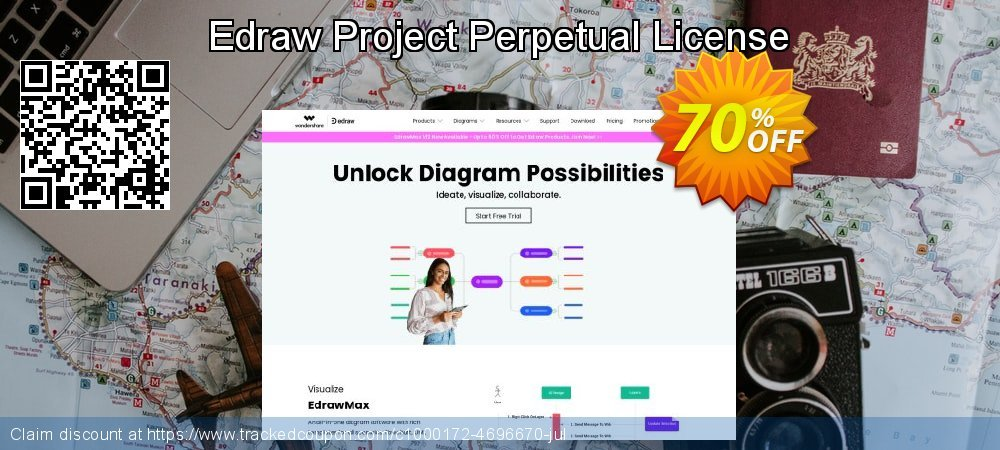 Edraw Project Perpetual License coupon on Back to School season offer