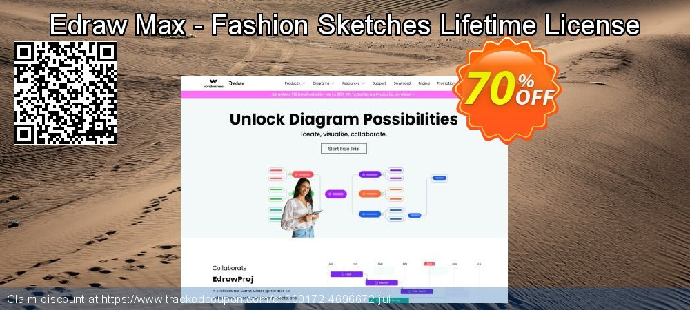 Edraw Max - Fashion Sketches Lifetime License coupon on Student deals offering discount