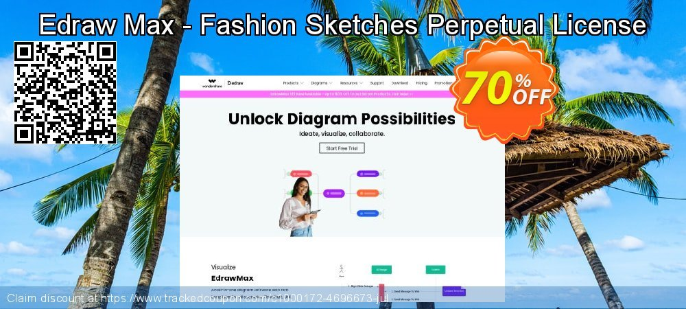 Edraw Max - Fashion Sketches Perpetual License coupon on Exclusive Student discount offering sales