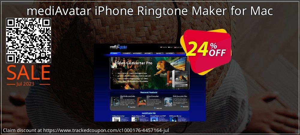 Get 21% OFF mediAvatar iPhone Ringtone Maker for Mac offering sales