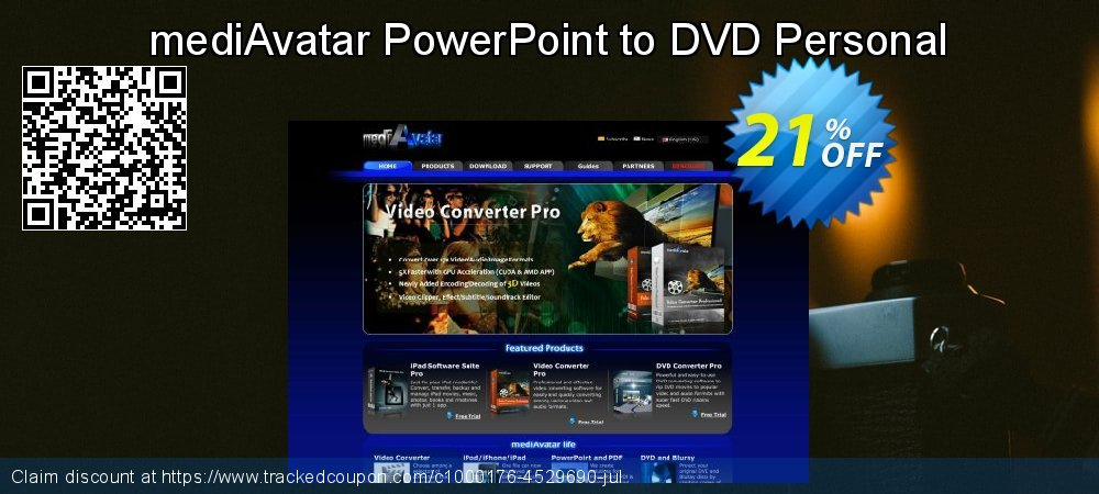Get 20% OFF mediAvatar PowerPoint to DVD Personal offering sales