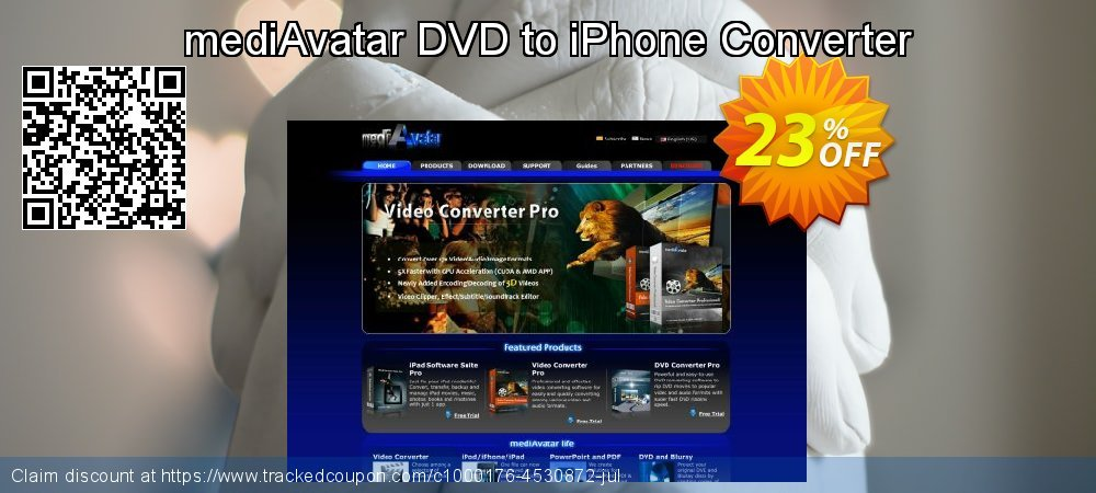 Get 20% OFF mediAvatar DVD to iPhone Converter offering sales