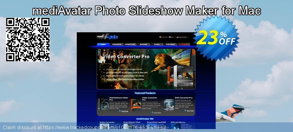 mediAvatar Photo Slideshow Maker for Mac coupon on Camera Day offering discount