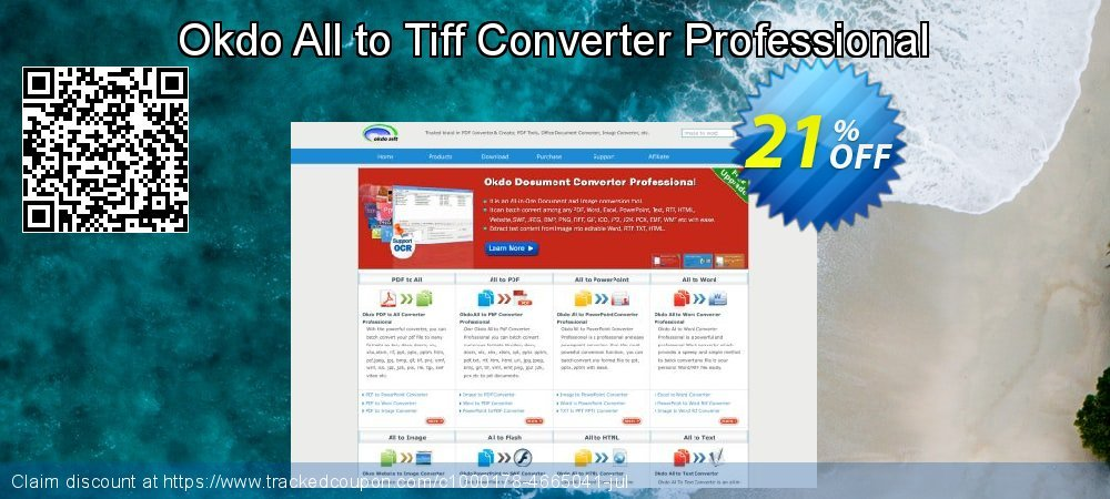 Get 20% OFF Okdo All to Tiff Converter Professional promotions