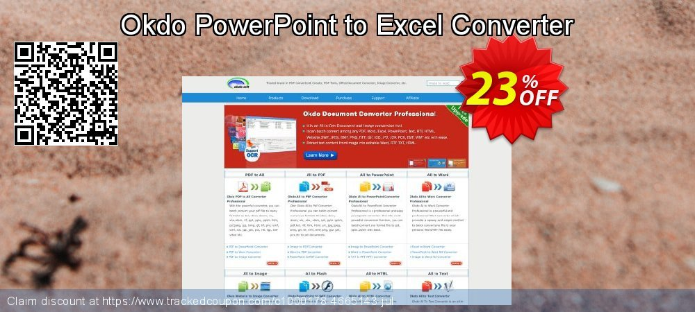 Get 20% OFF Okdo PowerPoint to Excel Converter promo