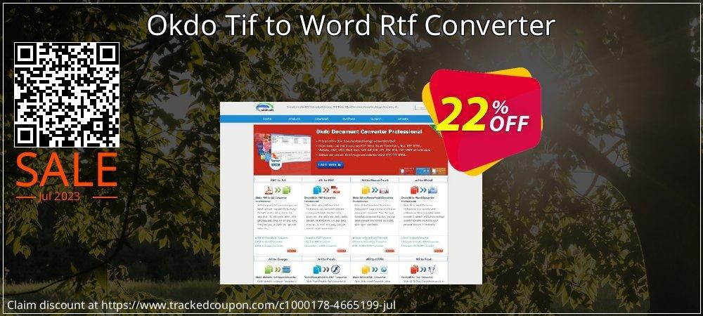 Get 20% OFF Okdo Tif to Word Rtf Converter offering sales
