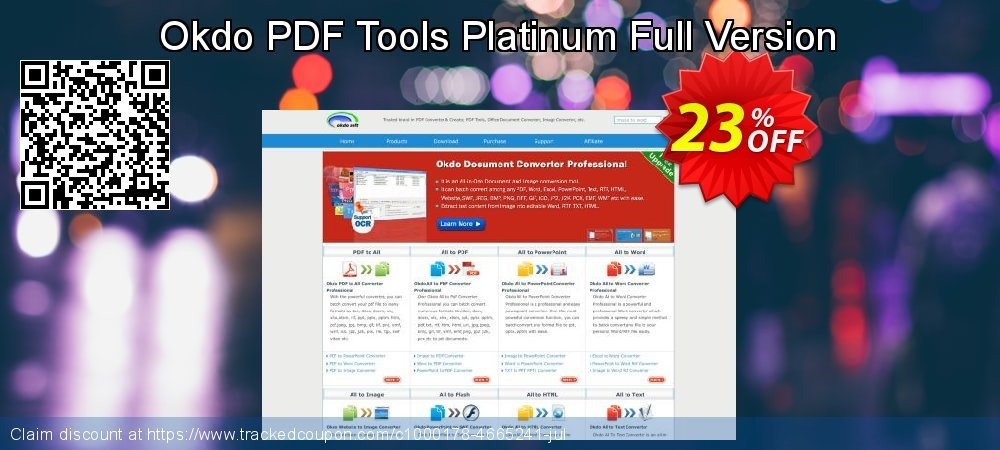 Get 20% OFF Okdo PDF Tools Platinum Full Version offering sales