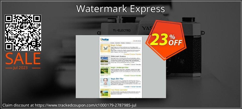 Get 20% OFF Watermark Express offering deals