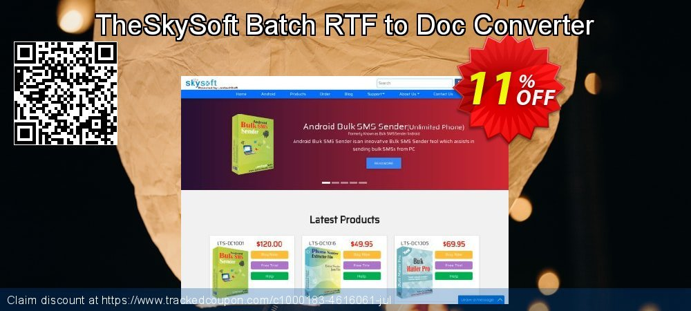 TheSkySoft Batch RTF to Doc Converter coupon on Mothers Day offering discount