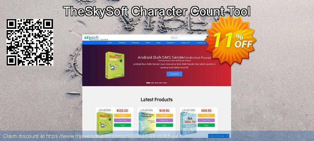 Get 10% OFF TheSkySoft Character Count Tool discount