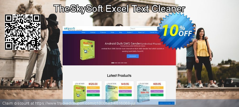 TheSkySoft Excel Text Cleaner coupon on Mom Day offer