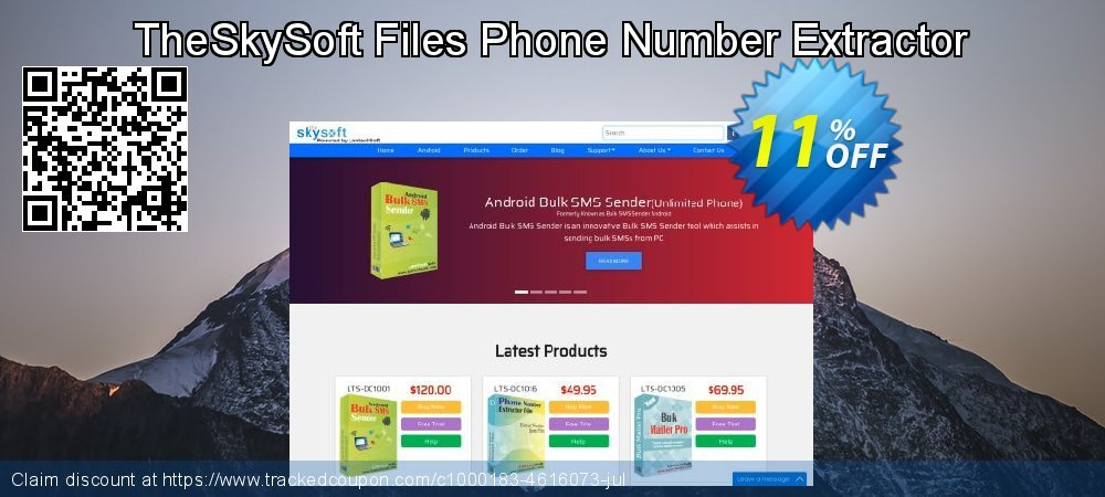 TheSkySoft Files Phone Number Extractor coupon on Mothers Day discounts