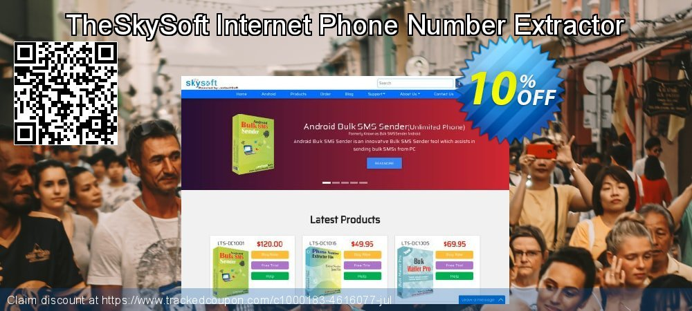 TheSkySoft Internet Phone Number Extractor coupon on Mothers Day offer